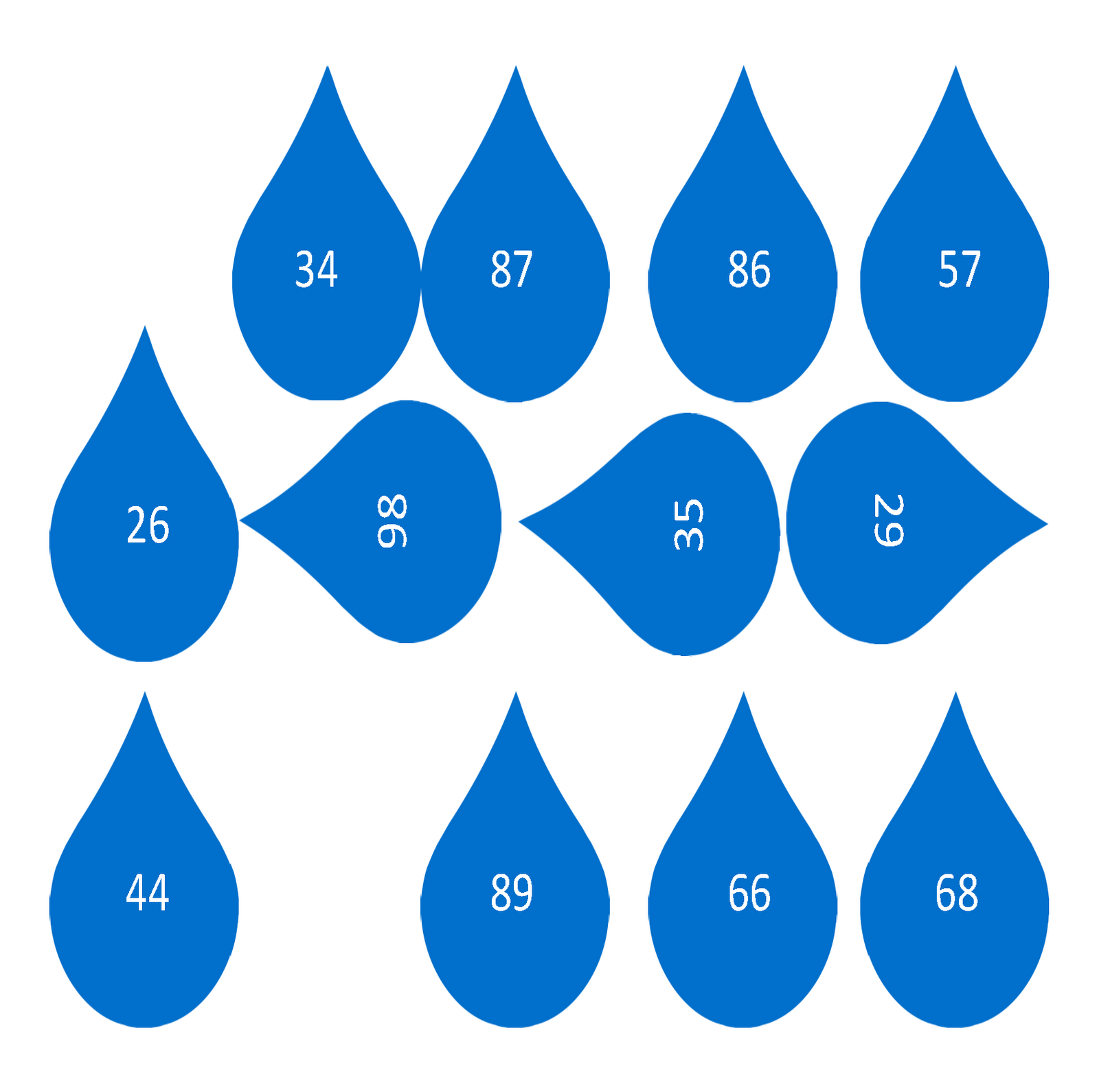 printable raindrops template .