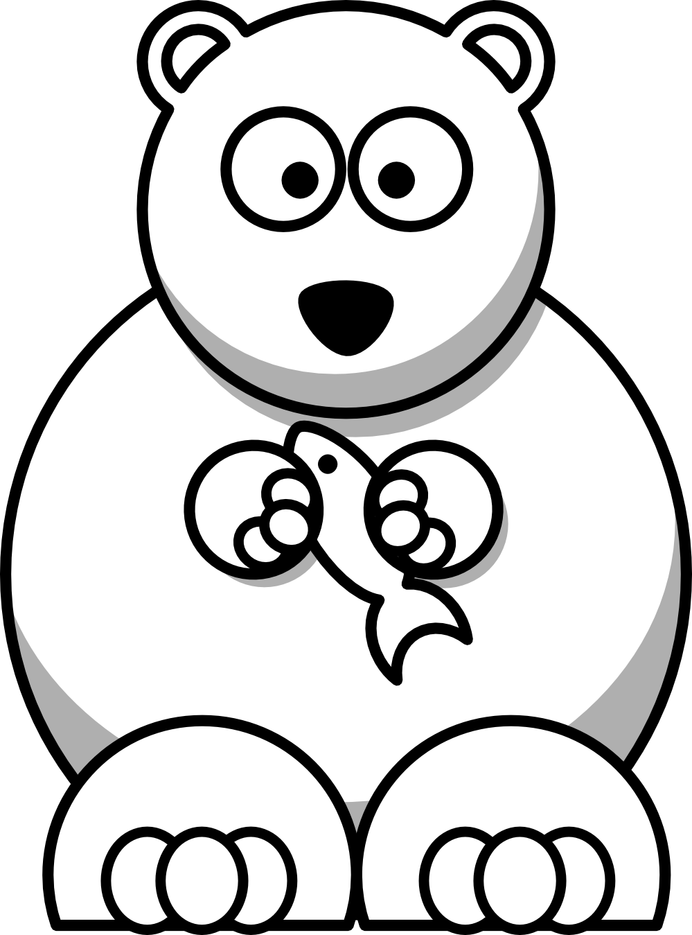 ... Polar Bear Clipart Black And White Lemmling cartoon bear black: galleryhip.com/christmas-polar-bear-clipart-black-and-white.html