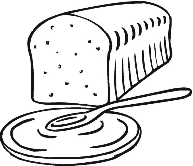 Coloring Page Bread - ClipArt Best - ClipArt Best