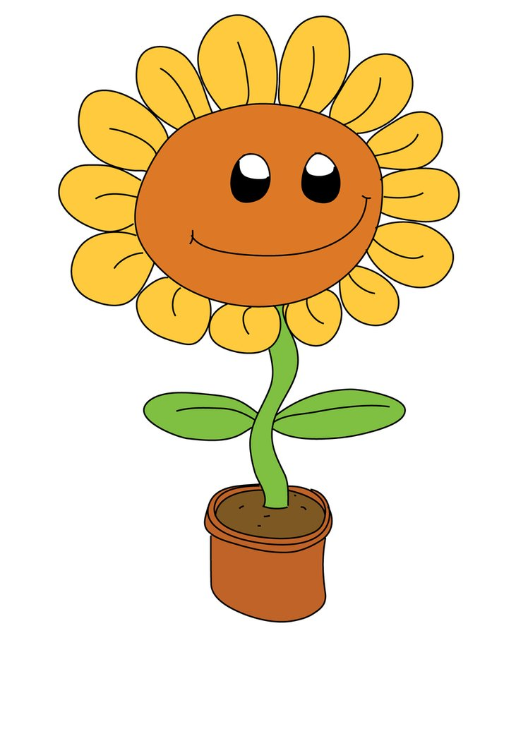 sunflower cartoon clipart best clipart best