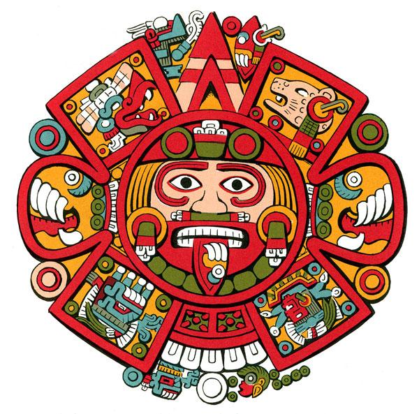Calendar Art Meaning : Aztec calendar drawings clipart best