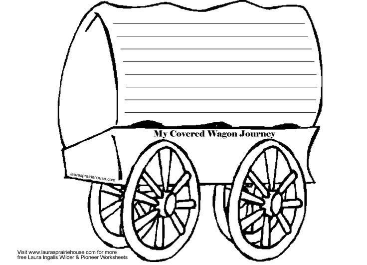 Covered Wagon Template - ClipArt Best