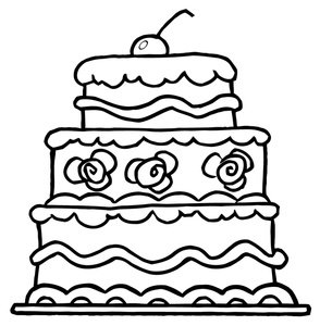 Birthday cake free clipart color pagte