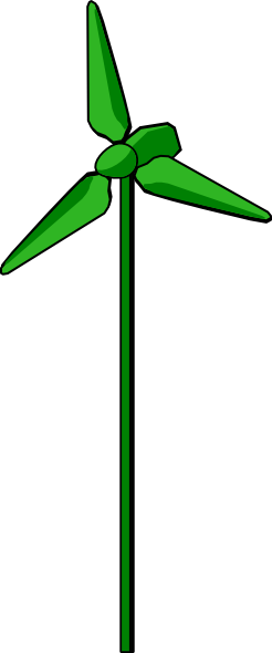 Moving wind turbine clipart