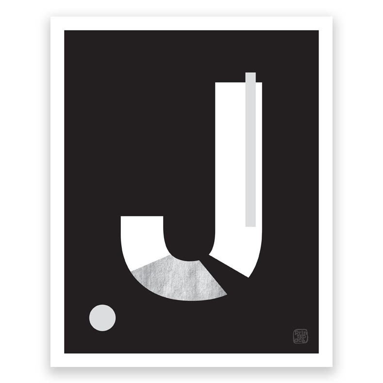 Letter J - Art Print Printspace® shop online and wholesale Australia