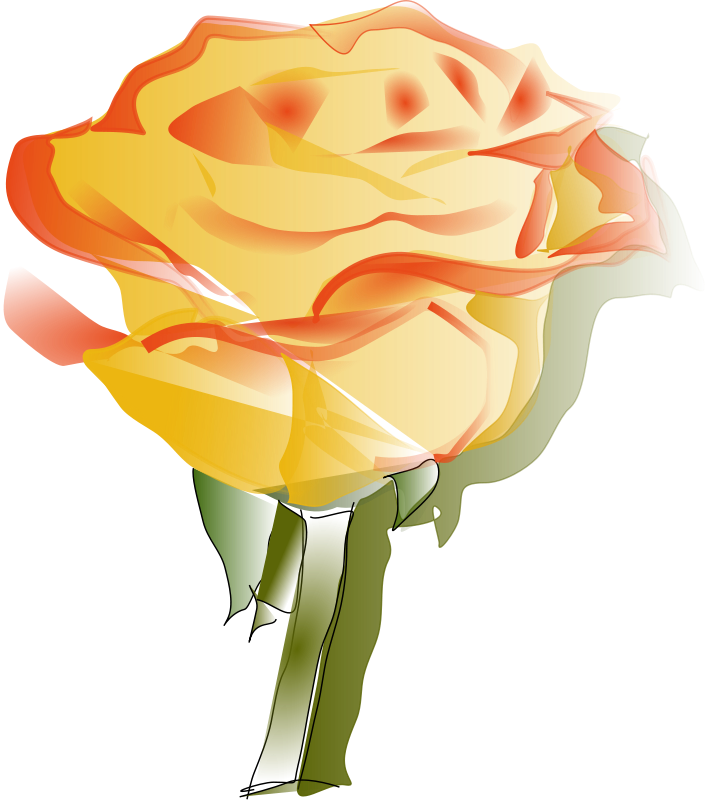 Free Yellow Rose Clipart - ClipArt Best