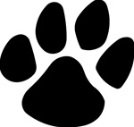 Tiger Paw Print Decals