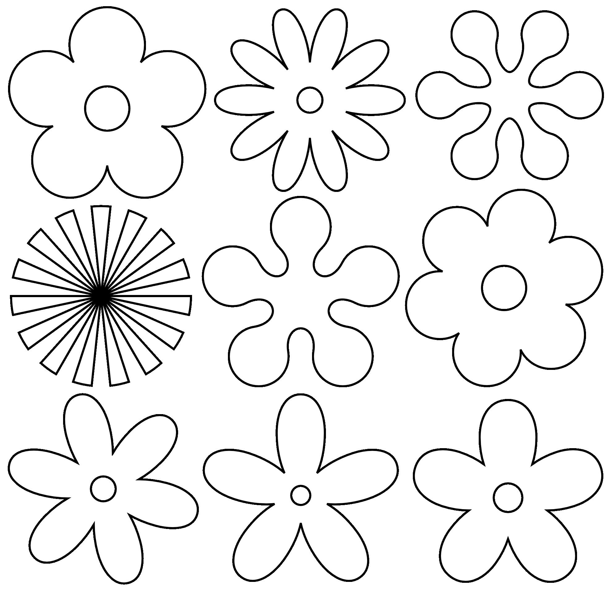 Flower Art Black White - ClipArt Best