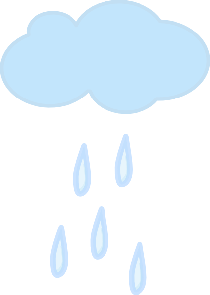 Single Rain Cloud clip art - vector clip art online, royalty free ...