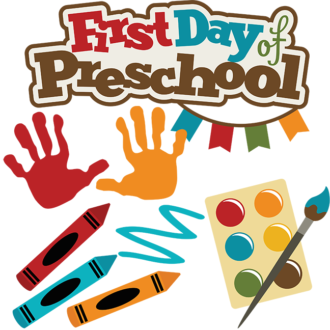 First Day Of Preschool SVG school svg files crayon svg ...