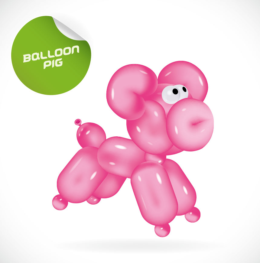 Balloon Animals Clipart Animal balloon vector art