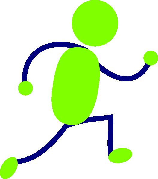 Green and blue running man clip art vector clip art online