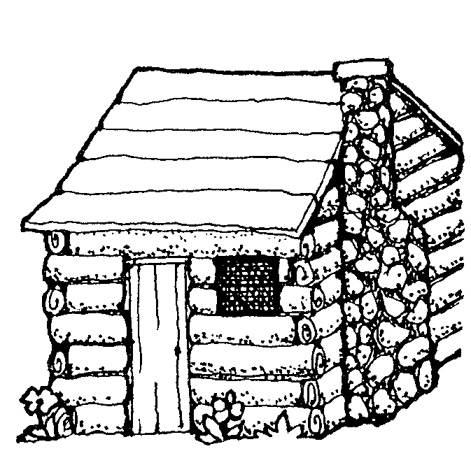 log cabin coloring pages - photo#18