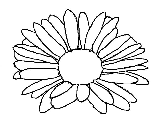 medium daisy flower coloring pages - photo#9