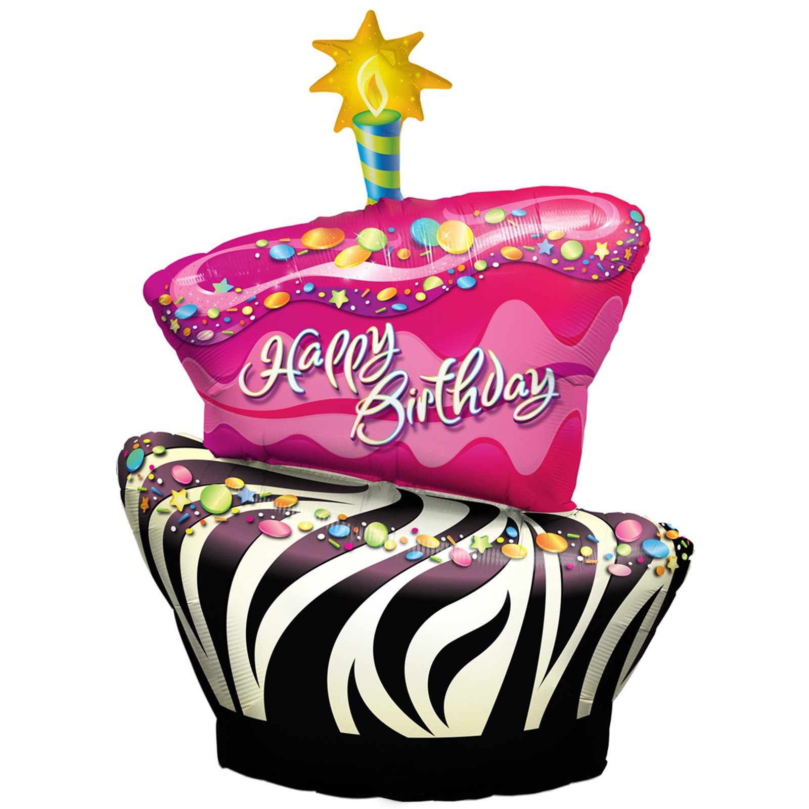 Cake And Balloons Clipart : Happy Birthday Balloons And Cake - ClipArt Best