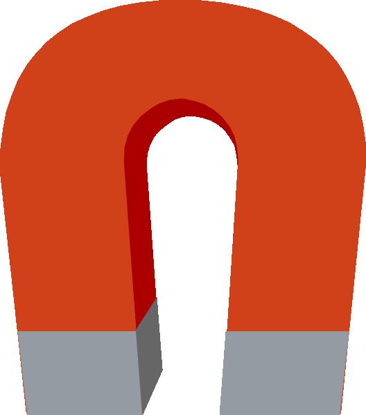 Horseshoe Magnet clip art - vector clip art online, royalty free ...