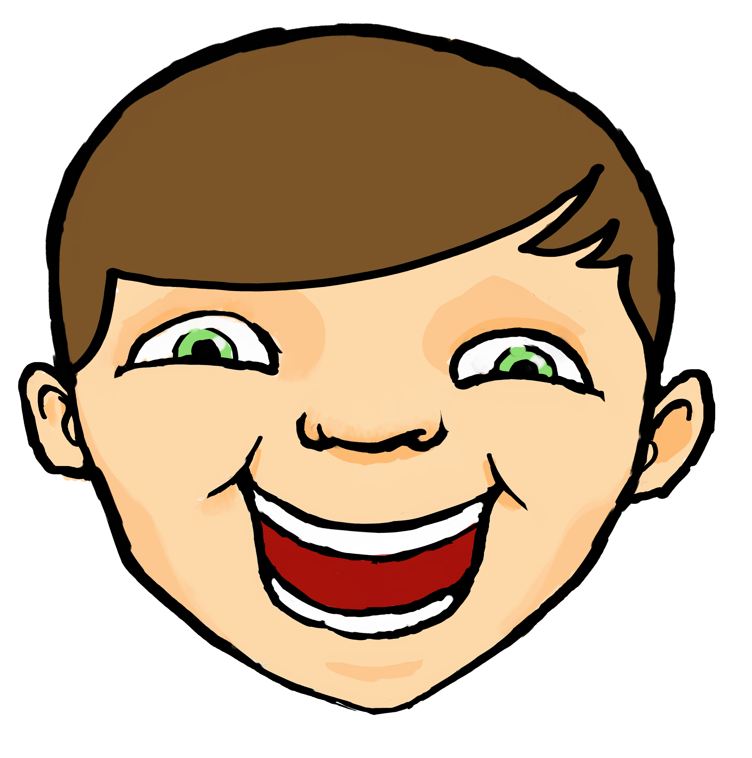 LAUGHING FACES CARTOONS - ClipArt - 990.1KB