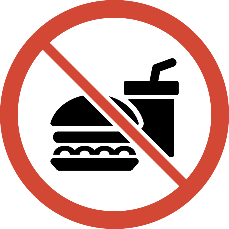 Clipart - No Food or Drink Sign
