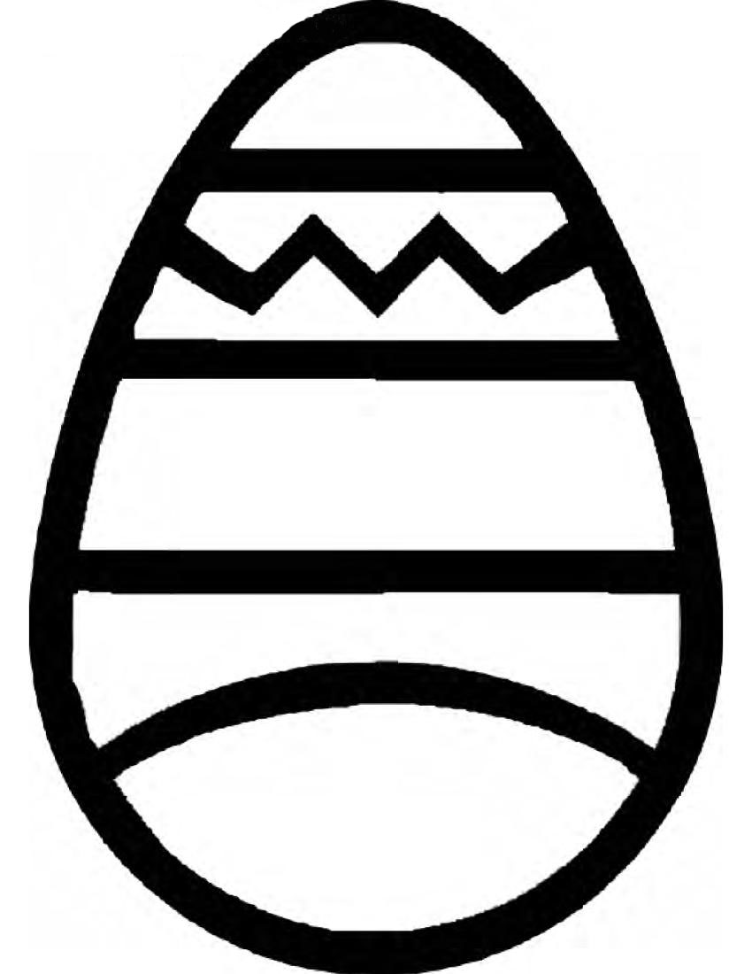Easter Egg Outline Template - ClipArt Best