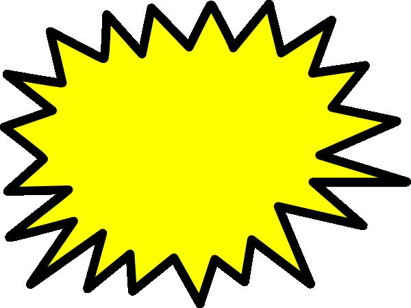Yellow Star Burst Clip Art Vector Clip Art Online