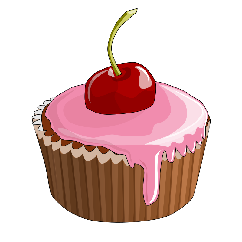 Cherry Cupcake ... Free Clipart Cupcakes