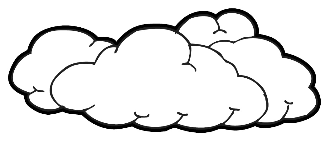 Clouds Clip Art Black And White - Free Clipart Images
