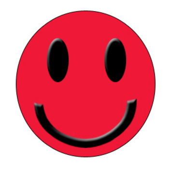 Picture Of A Red And Black Smiley Face This Clip Art Image Of A