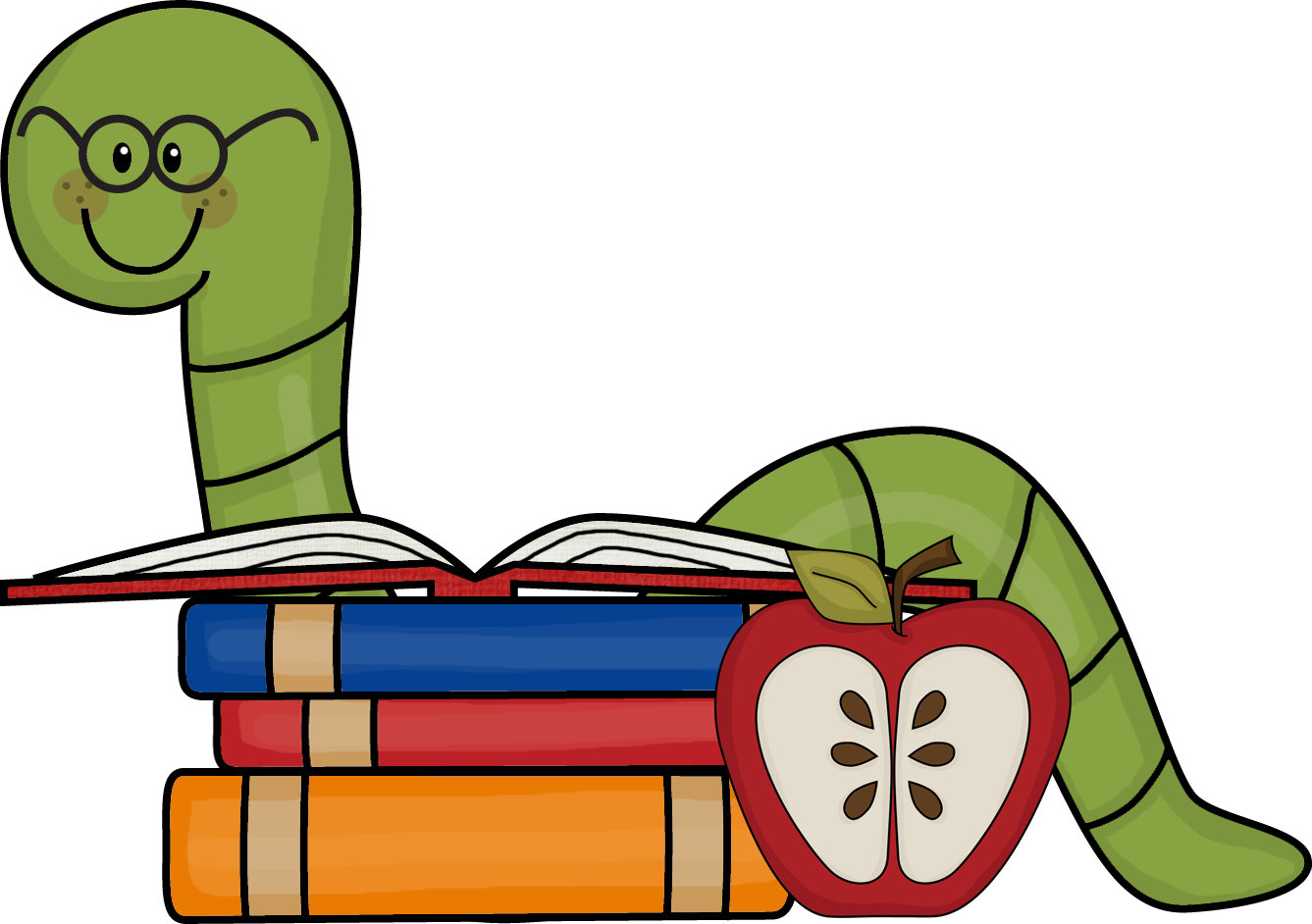 Bookworm Clipart Free - ClipArt Best - ClipArt Best