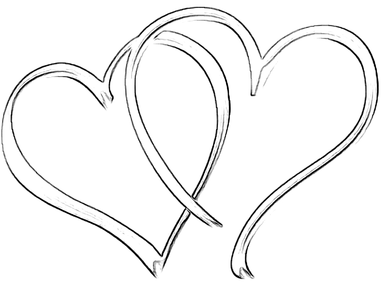 double heart coloring pages - photo#17