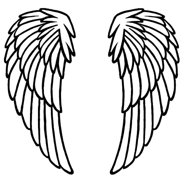 angel wings template outline - photo #23
