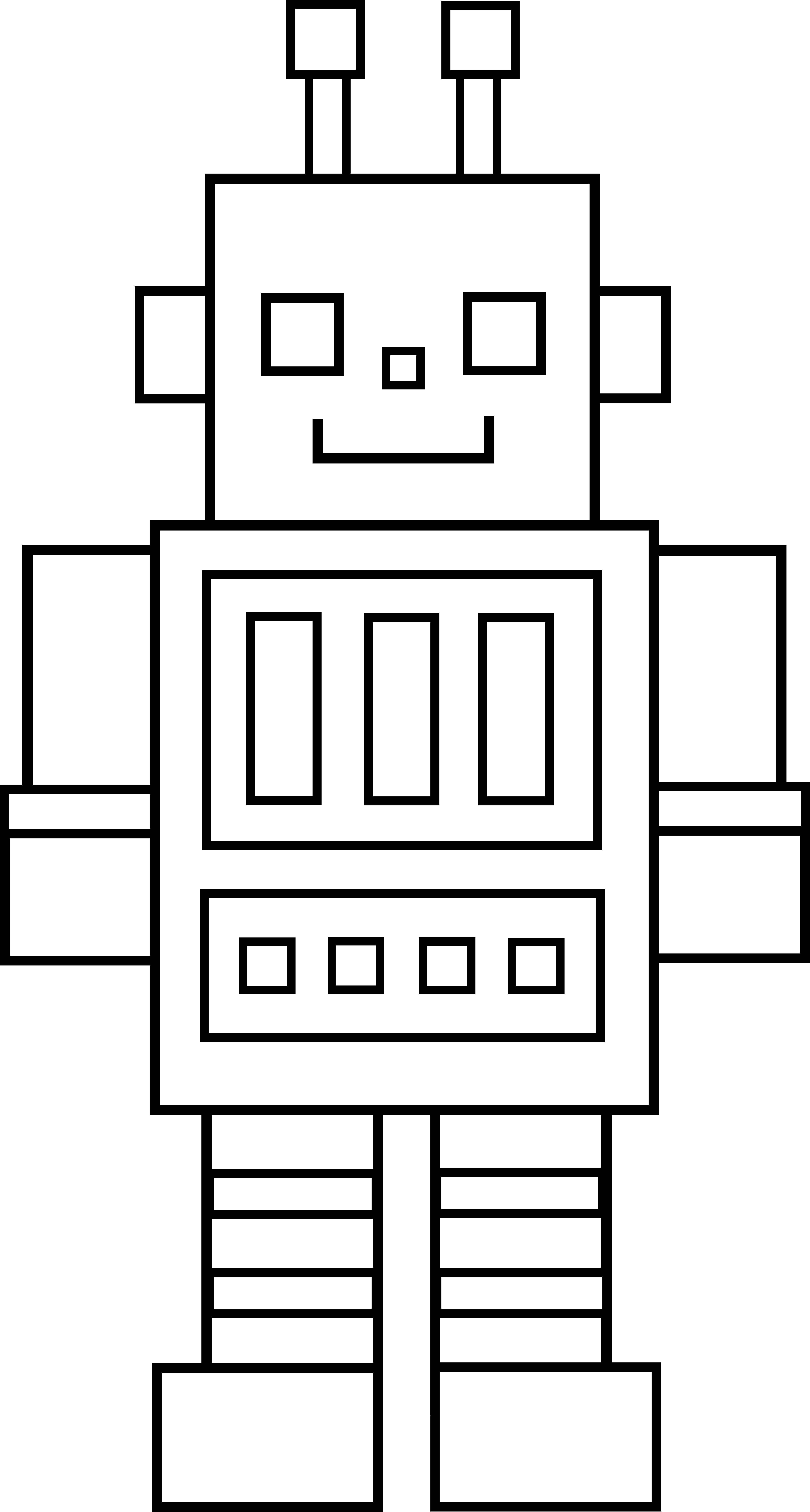 Line Art Robot : Simple robot outline clipart best