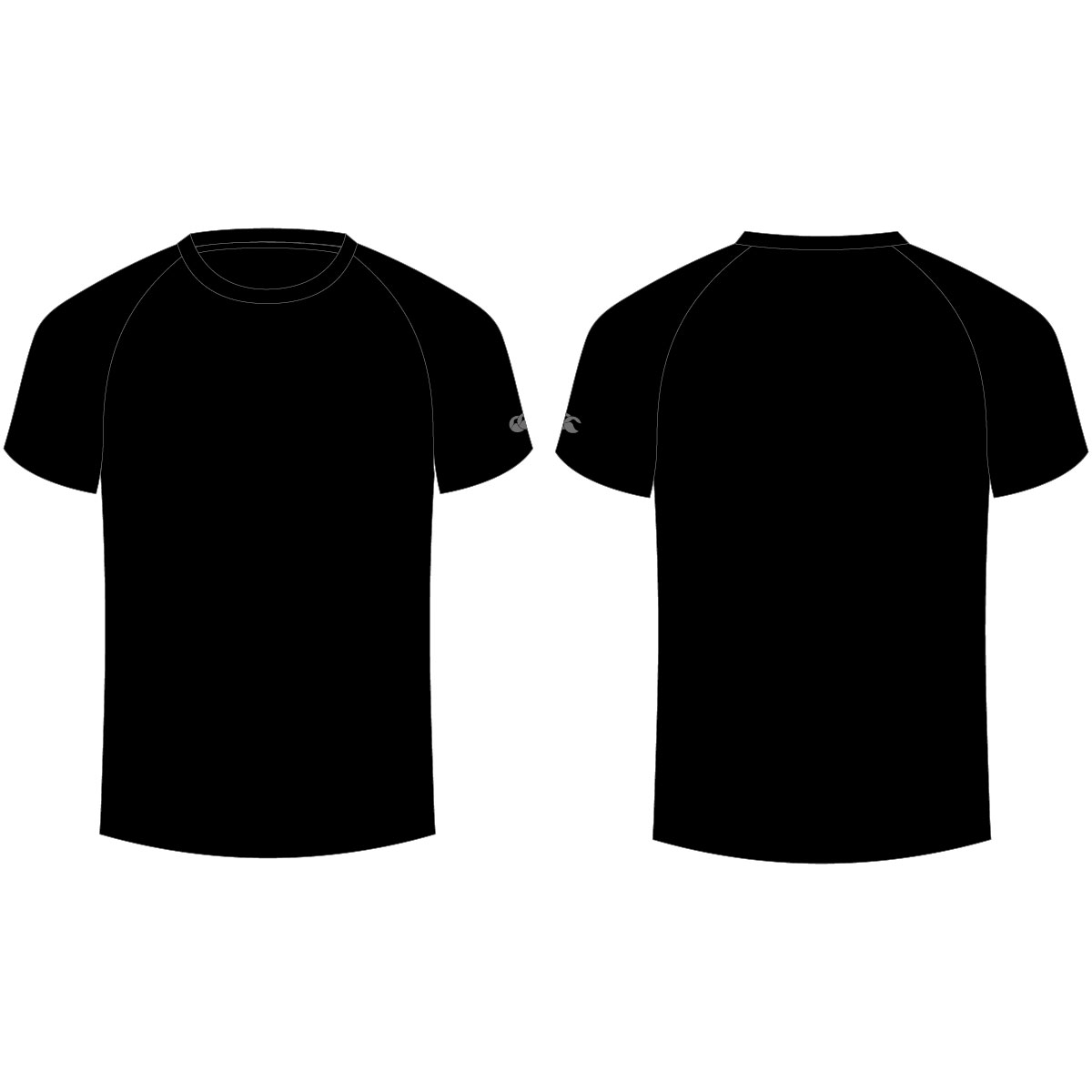 Gildan black t shirt template back