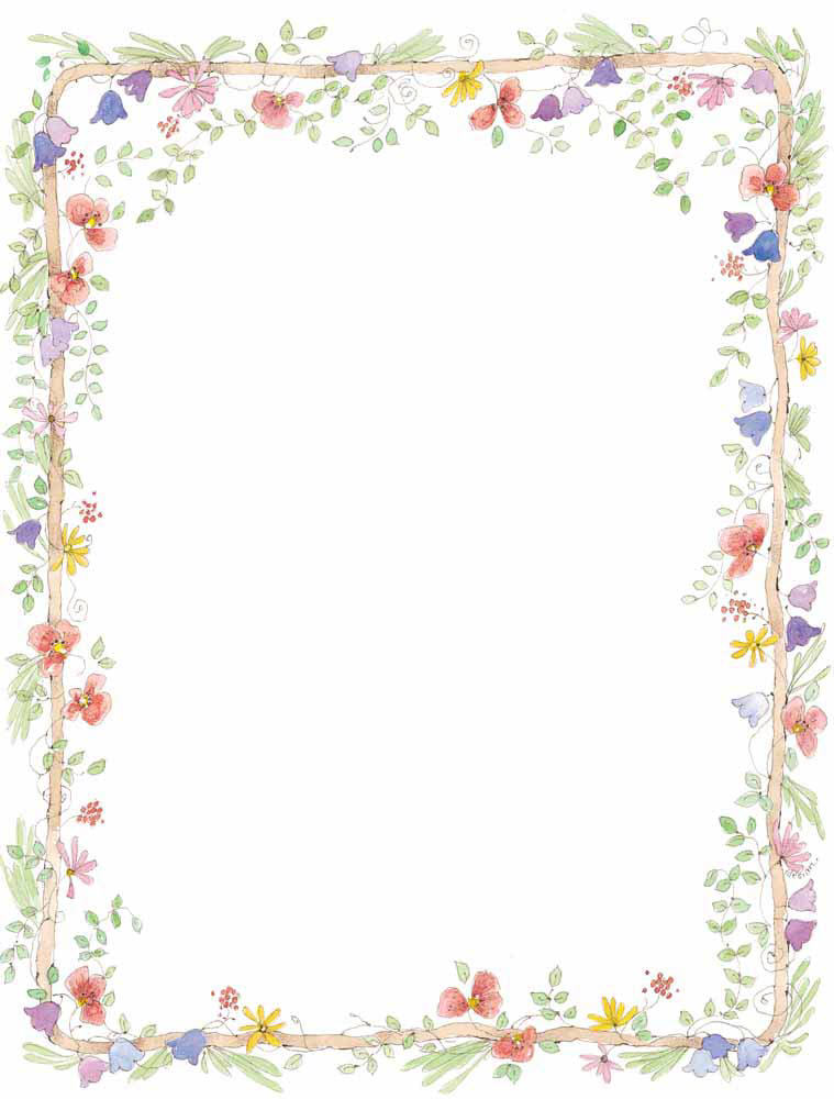 Simple Flower Border Designs For Paper - ClipArt Best