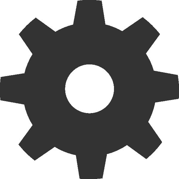 Gear Icon Clip Art - vector clip art online, royalty ...