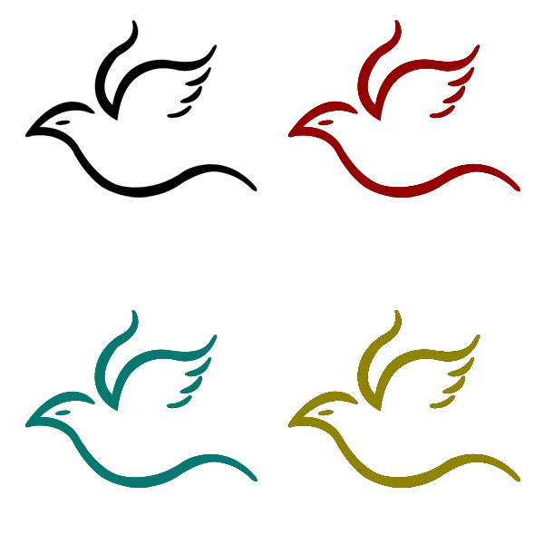 Simple Flying Bird Drawing Cu Designs Pinterest
