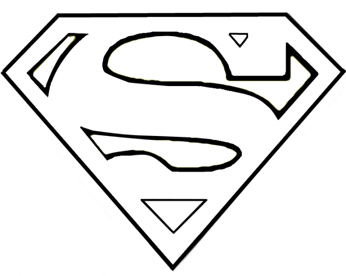 superman symbols colouring pages