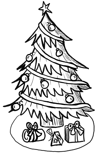 Christmas Line Drawings - ClipArt Best