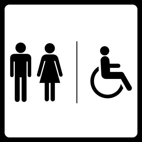 Bathroom Symbol Vector Clipart Best