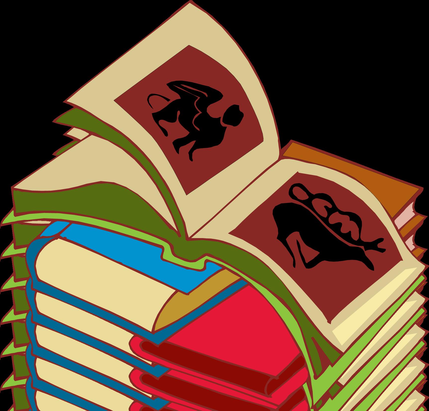 Pile Of Books Clip Art Stack of books #2 clip art
