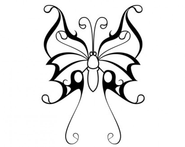 butterfly clip art outline clipart best. Black Bedroom Furniture Sets. Home Design Ideas