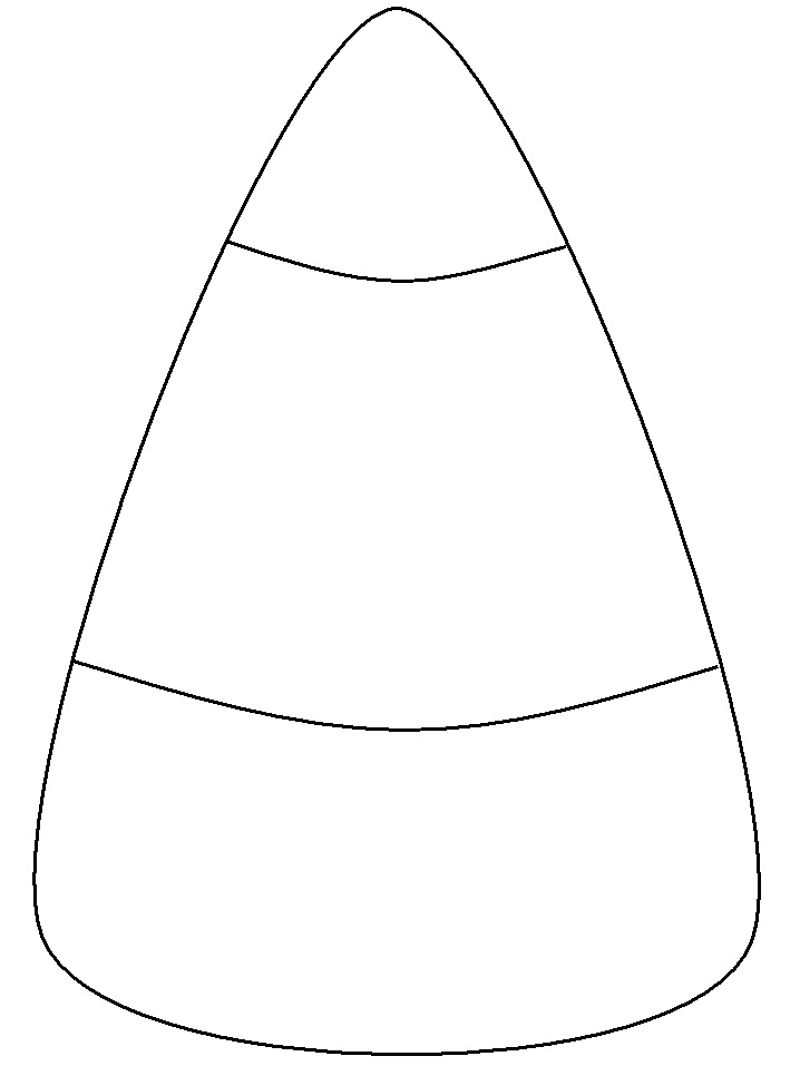 Pictures of candy corn clipart best for Candy corn coloring page