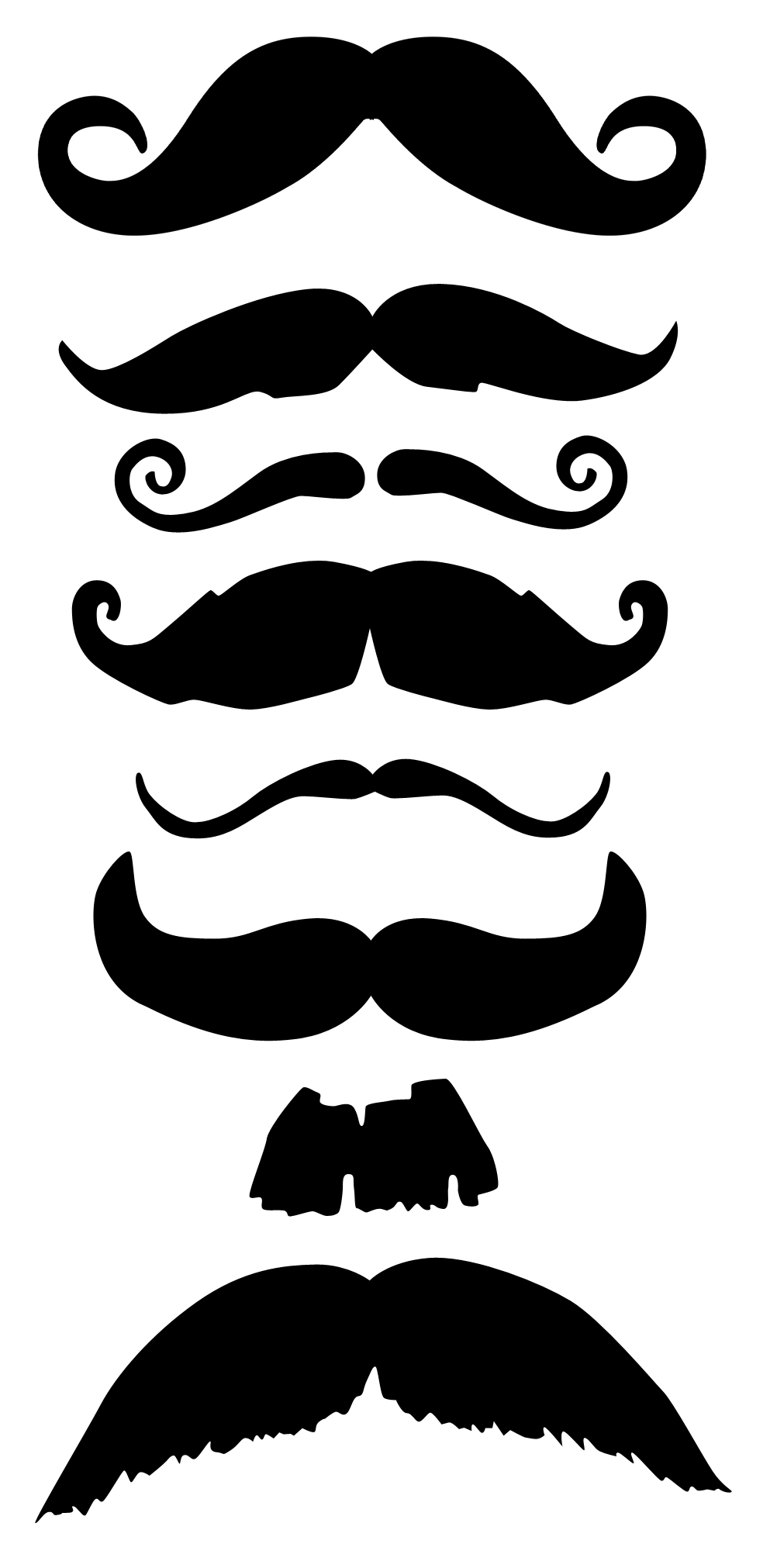 image about Printable Mustaches named Absolutely free Printable Mustaches : Mustache Moustache Template