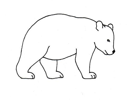 Line Art Bear : Bear line drawing clipart best