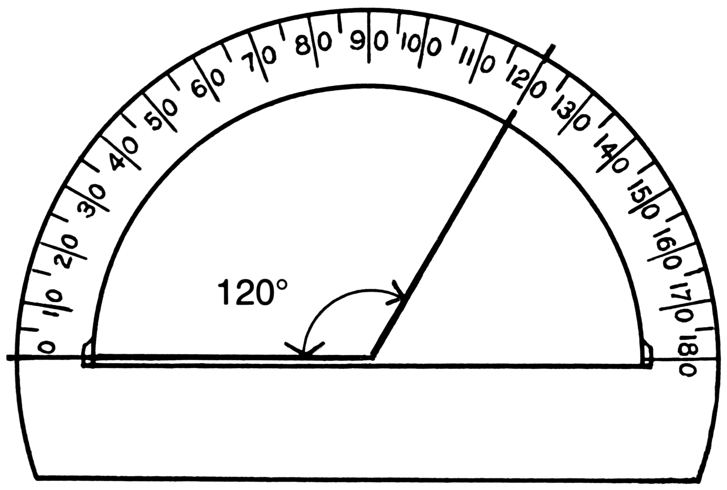 circular protractor template - 360 protractor printable clipart best