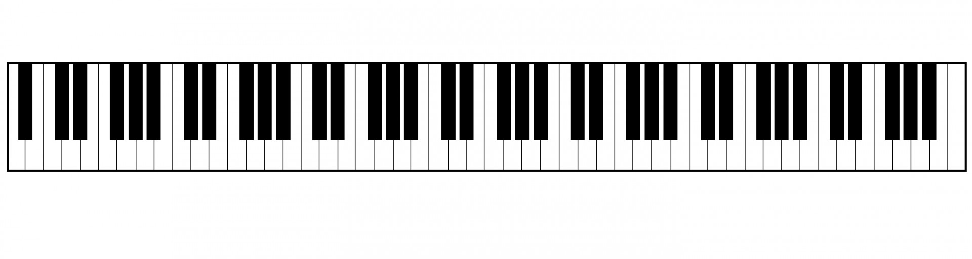 Piano Key Template Clipart Best