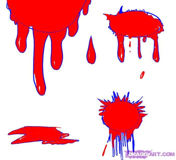 Как сделать эффект крови на бумаге
