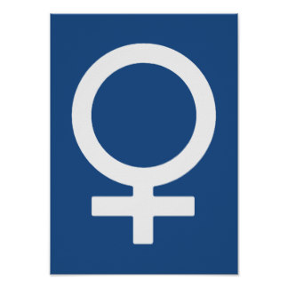 Symbol For Female Posters | Zazzle