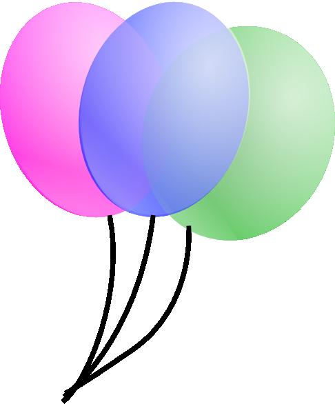 Balloons clip art - vector clip art online, royalty free & public ...