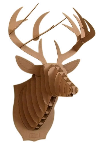 Deer head pictures clipart best for Free cardboard taxidermy templates