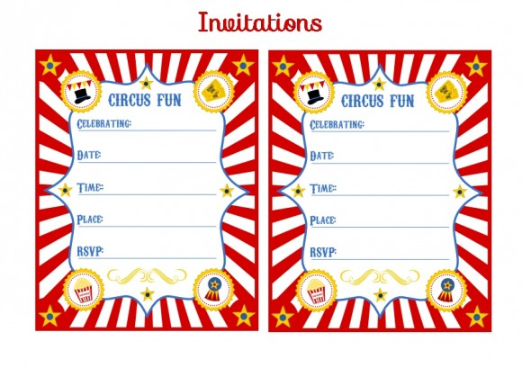 13 blank circus invitations templates free free cliparts that you can ...